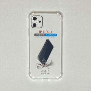 Чехол на телефон Iphone 11 прозрачный противоударный
